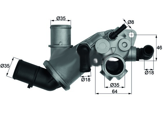 Fiat Bravo 1995 -2001 1.9 TD 100 S termostat s těsněním