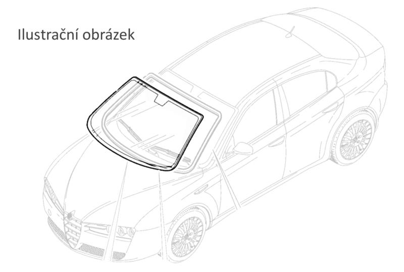 Fiat Doblo 2009- 1.4 čelní okno zelené