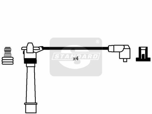 Fiat Punto 1999 - 2010 1.2 16V zapalovací kabely - sada 1.2 16V
